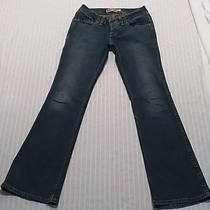 Express Low Rise Flare Leg Women Blue Jeans